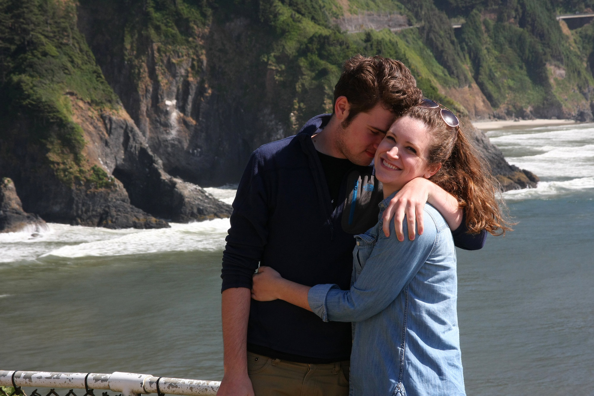 Hugs at Heceta Head