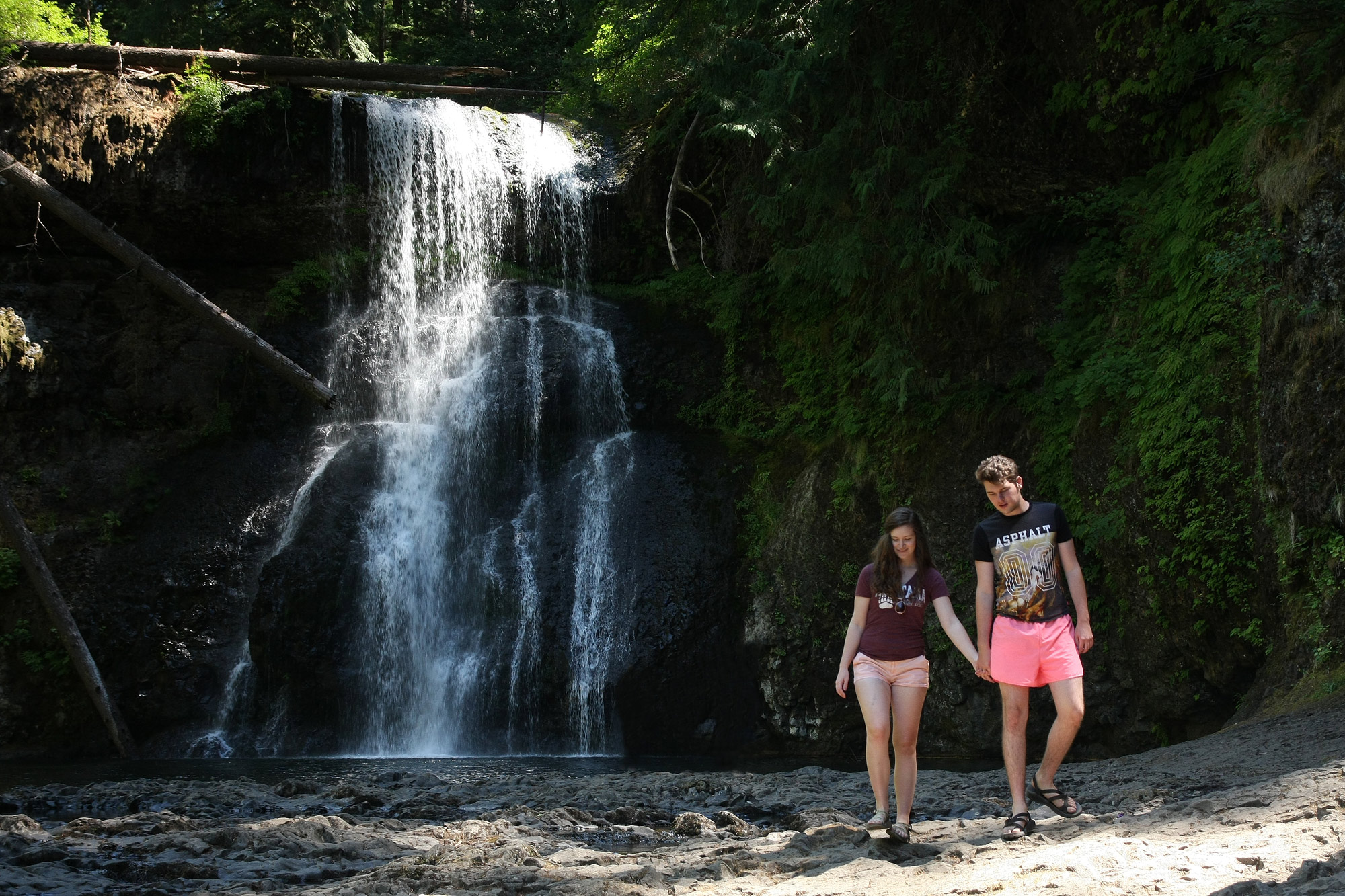 Topry and Nathan at Upper North Falls